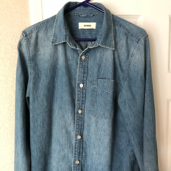 2067dd1f808 Buck Mason Other - Buck Mason 3mo wash denim shirt